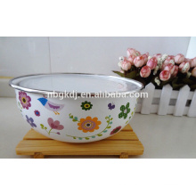Color coated enamel coating mixing bowls